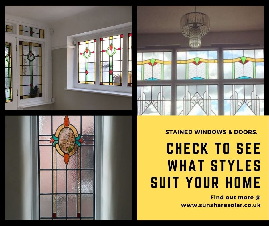 check out stained glass windows to see what styles suit your home